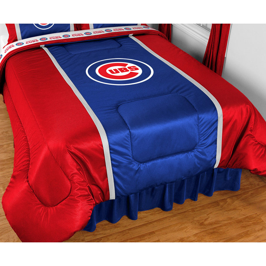 Sports Coverage MLB Chicago Cubs Comforter Sidelines Base...