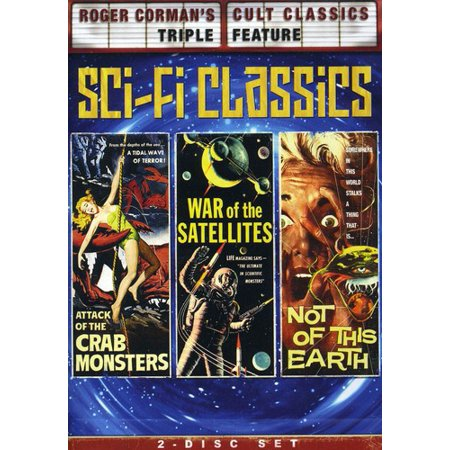 Roger Corman's Cult Classics Triple Feature: Sci Fi Classics - Attack Of The Crab Monsters / War Of The Satellites / Not Of This Earth (Full Frame,