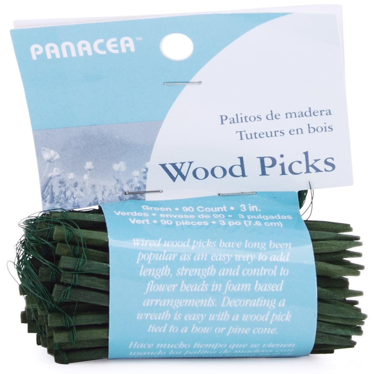 "Wood Floral Picks, 3"", 90pk, Green"