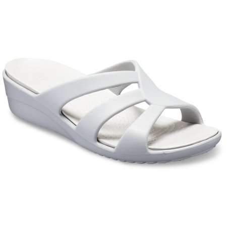 Crocs Women's Sanrah Strappy Wedge Sandals