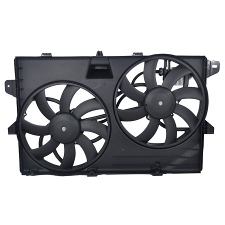 TOPAZ 7T4Z-8C607-A Dual Radiator Cooling Fan Assembly for Ford Lincoln MKX Edge (Ford Thunderbird Radiator Fan)