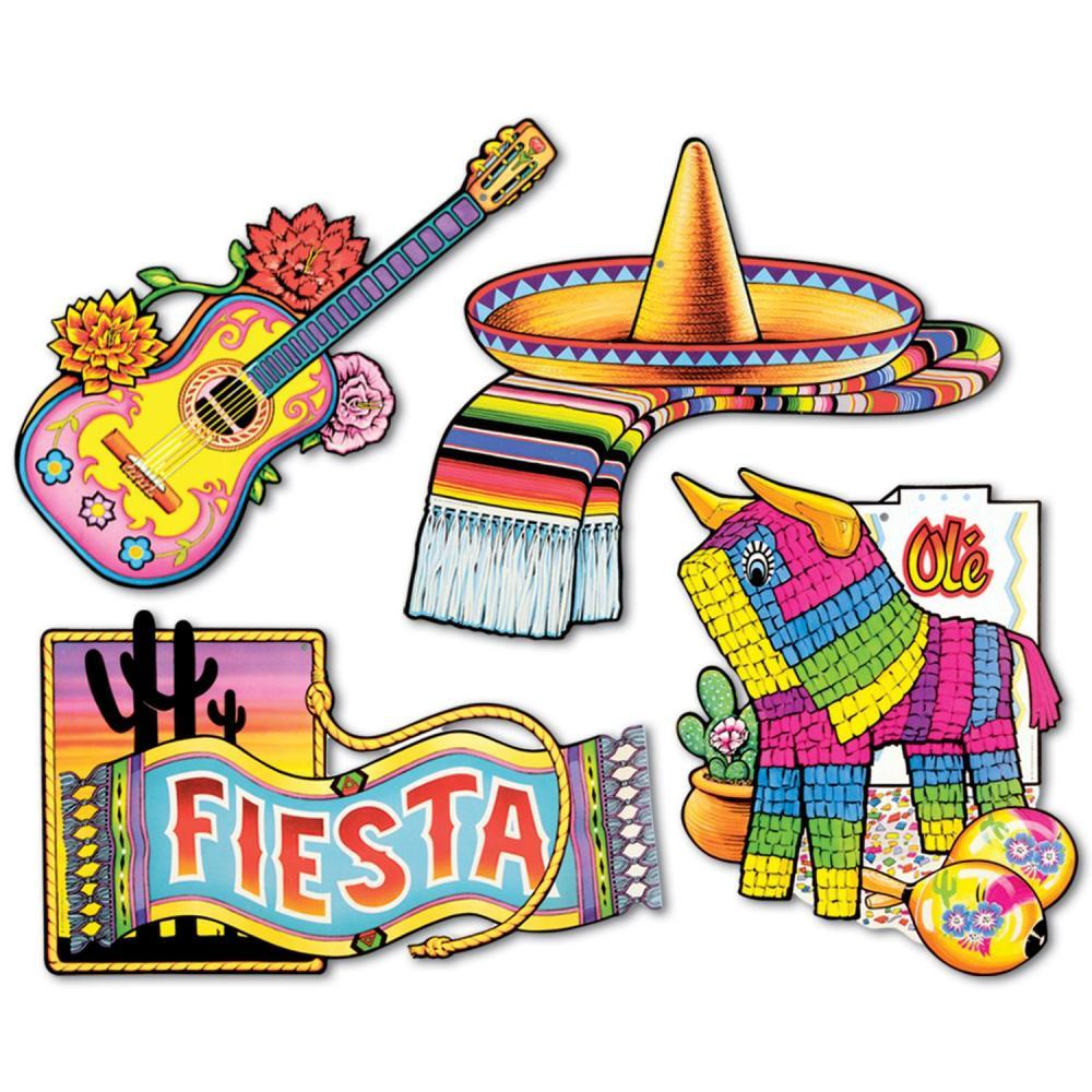 "(Pack of 48) 16"" Cinco de Mayo Party Fiesta Cutouts"