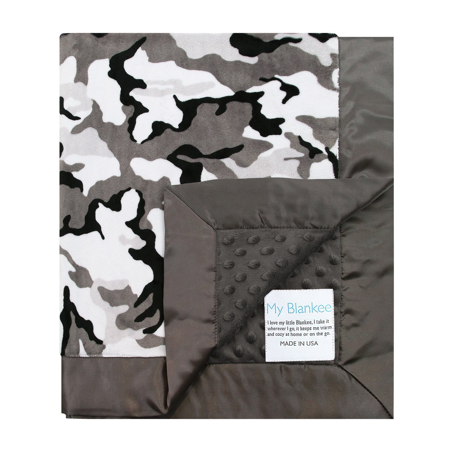 My Blankee Winter Camouflage with Minky Dot Back & Flat S...
