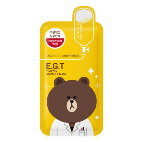 MEDIHEAL Line Friends E.G.T Timetox Ampoule Face Mask