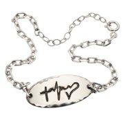 Women's Faith, Hope, Love Sterling Silver Link Bracelet