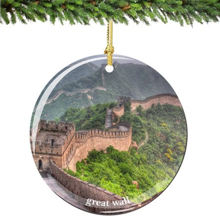 Great Wall of China Christmas Ornament, Porcelain 2.75