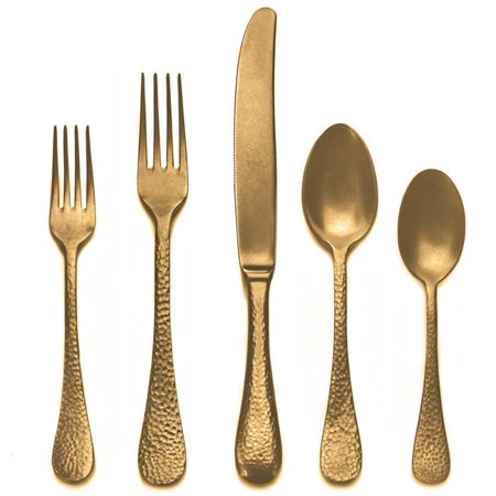 Mepra 106822005O Stainless Steel Place Setting - Epoque Oro - 5 Piece - image 1 of 1