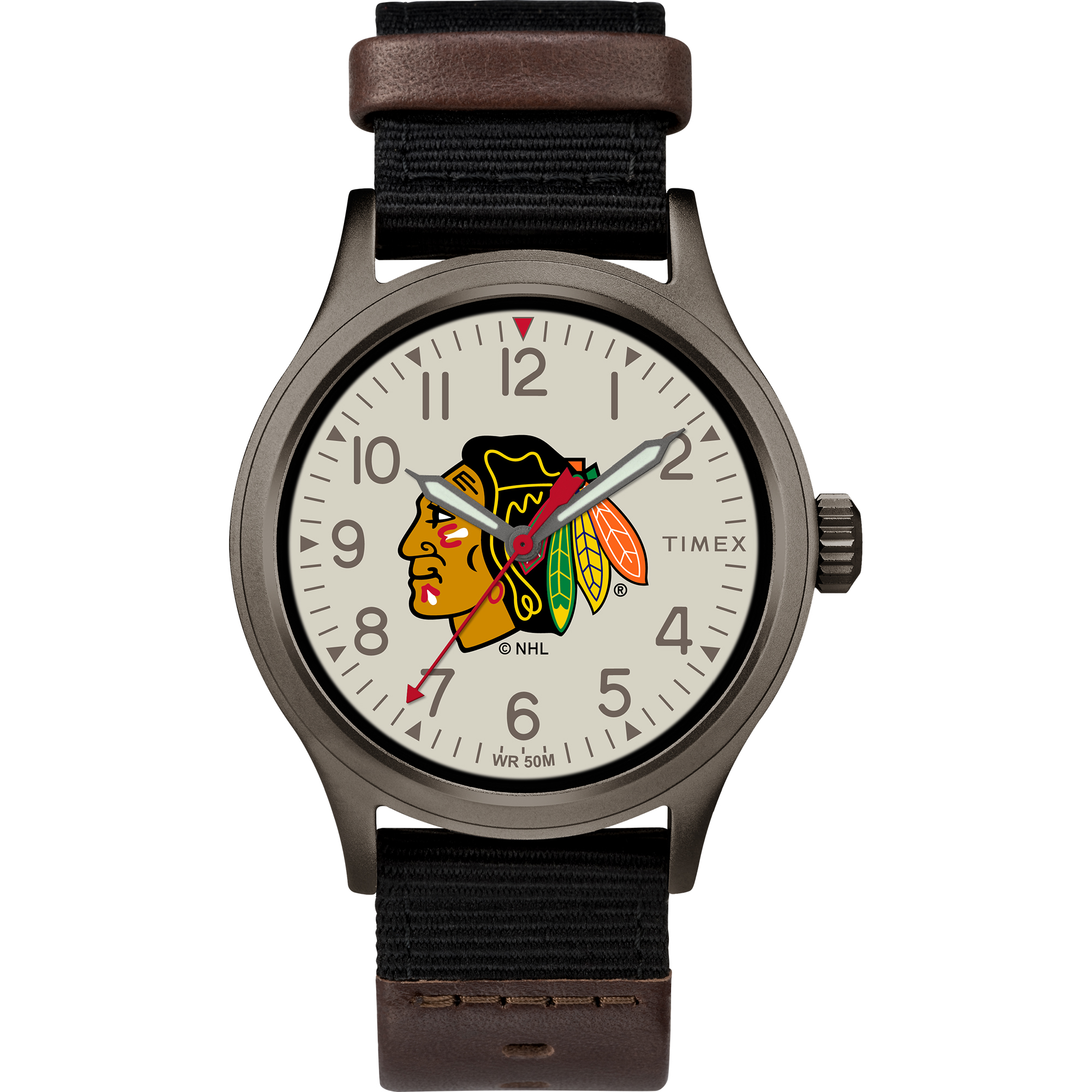 Timex - NHL Tribute Collection Clutch Men's Watch, Chicago Blackhawks