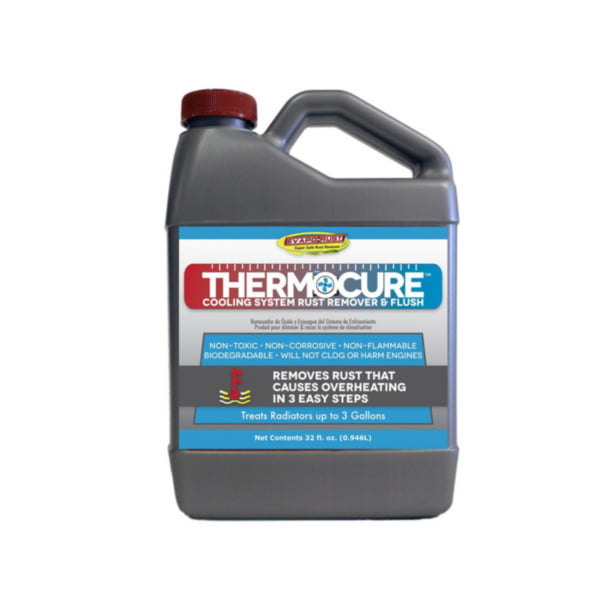 Thermocure Cooling System Rust Remover And Flush Safely Removes The Rust From Cars Cooling System 32 Oz Bottle Walmart Com Walmart Com