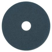 "Boardwalk Scrubbing Floor Pads, 20"" Diameter, Blue, 5/Carton -BWK4020BLU"