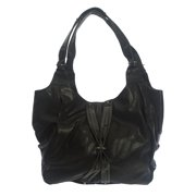 Religion Women's Faux Leather Bolt Detail Slouchy Hobo Bag One Size Black