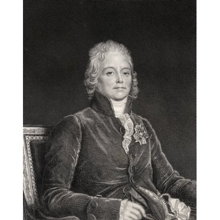 Charles Maurice De Talleyrand Perigord 1754-1838 French Politician And Diplomat Engraved By W H Mote From The Book Historical Sketches Of Statesmen Published London 1843 PosterPrint