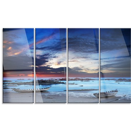 Design Art Colorful Traditional Asian Boats' 4 Piece Photographic Print on Metal Set