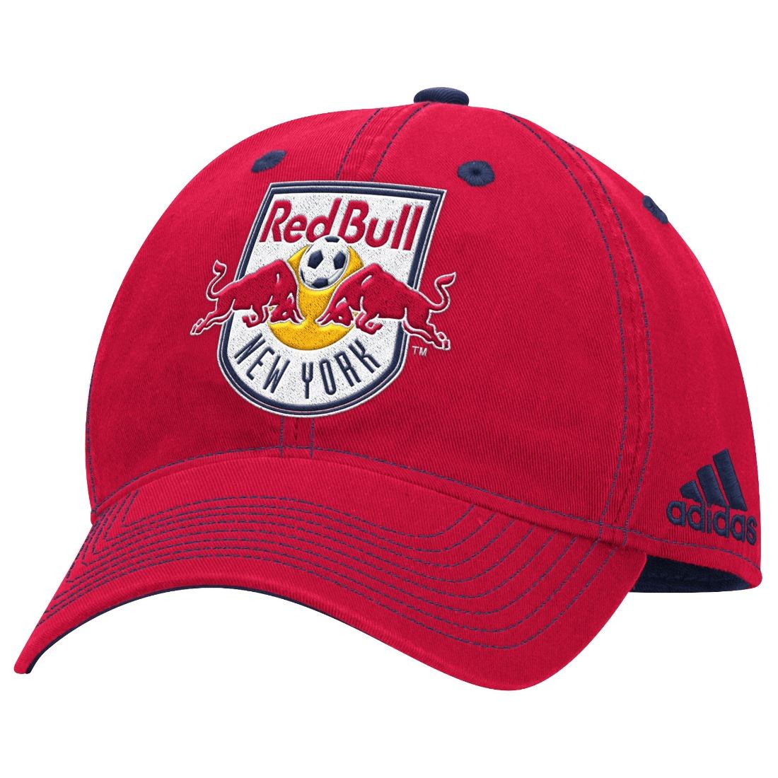 "New York Red Bulls Adidas MLS ""Team Performance"" Structured Adjustable Hat"
