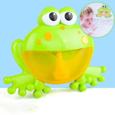 Kids Water Frog Toy, Newborns Baby Bath Automatic Music Bubble Frog, Cartoon Educational Toy (Newborn Bath Toy)