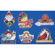 """Signs Of Christmas Ornaments Counted Cross Stitch Kit-3.5""""X4"""" 14 Count Set Of 6"""