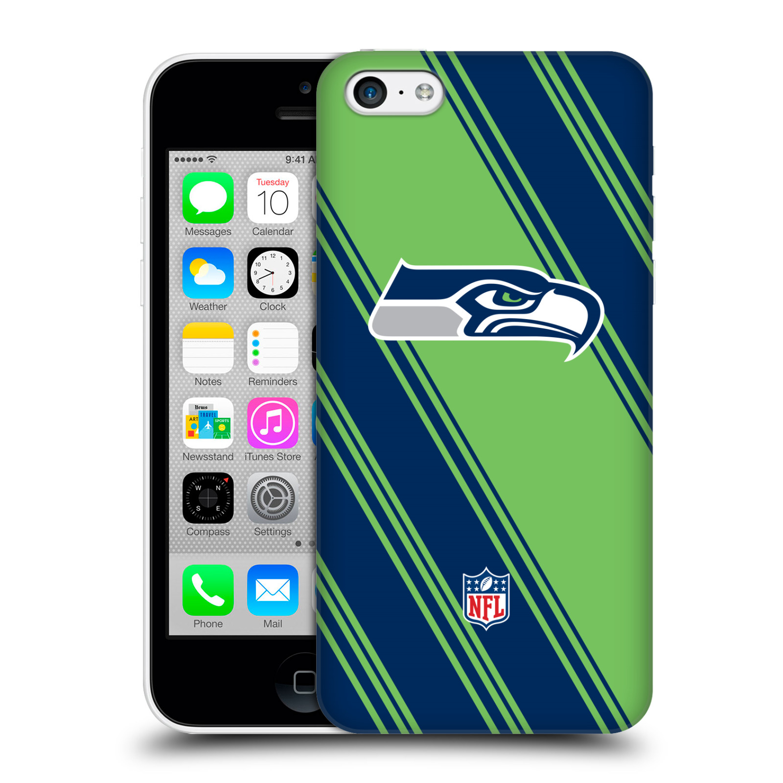 OFFICIAL NFL 2017/18 SEATTLE SEAHAWKS HARD BACK CASE FOR APPLE IPHONE PHONES