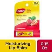 Carmex Daily Care Moisturizing Lip Balm Stick in Strawberry - 0.15 OZ
