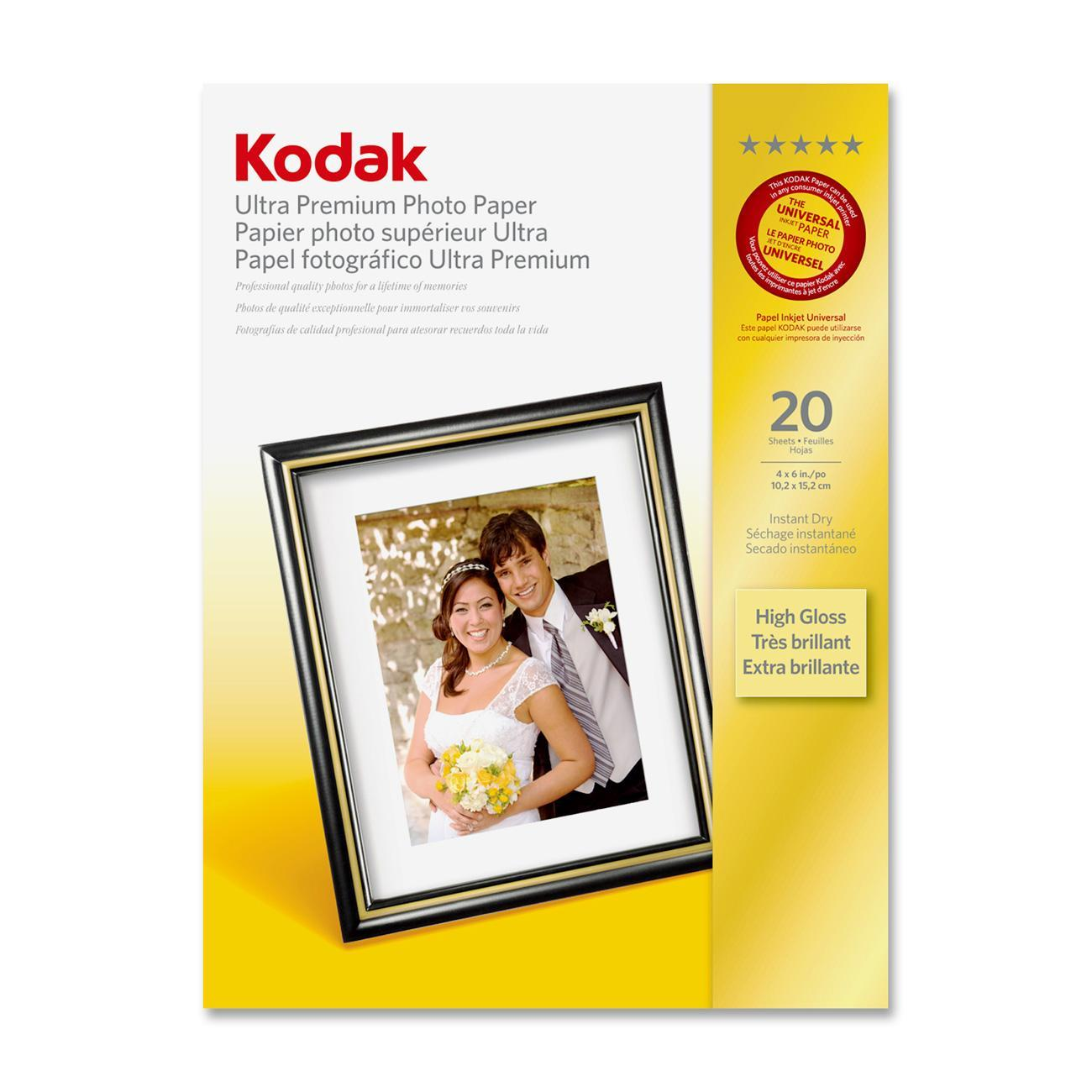 Kodak, KOD8777757, Ultra Premium 10 mil Photo Paper, 1 / Pack, White