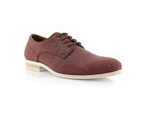 New Men's Eco Synthetic Modern Canvas Lace-Up Dress Shoes