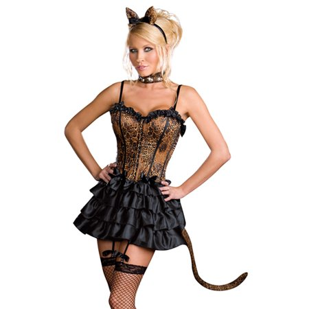Dreamgirl Sexy Animal Print Adult Kitty Cat Halloween Costume - Halloween Costumes Kitty Cat