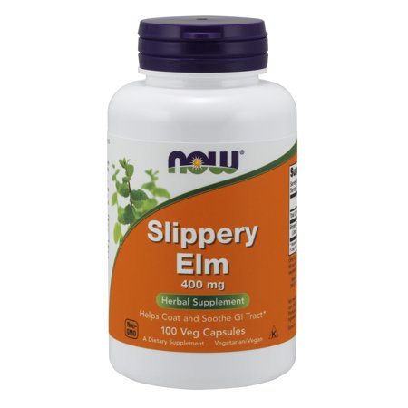 NOW Supplements, Slippery Elm 400 mg, 100 Veg Capsules (Slippery Snake)