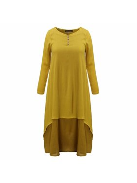 Vintage Women Double Layers Long Spring Fall Loose Maternity Tops Maxi Tunic Dress Dresses