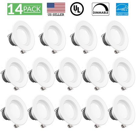 Sunco Lighting 10 Pack 4 Inch Smooth Recessed Retrofit Kit LED Light Fixture, 11W (40W Replacement), 4000K Kelvin Cool White, 660 Lumen, Dimmable, Quick/Easy Can Install, Wet Area (Quick Easy And Cool Halloween Costumes)