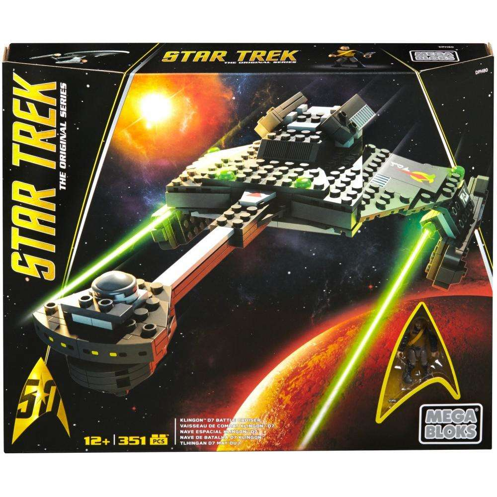 Mega Bloks Star Trek Klingon D7 Battle Cruiser Collector Construction Set by Mattel