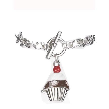 Brown & White Cupcake Prayer Box Bracelet by - Prayer Box Bracelet