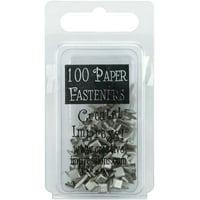 Creative Impressions 7325596 Mini Metal Paper Fasteners 3mm 100/pkg-square - Pewter