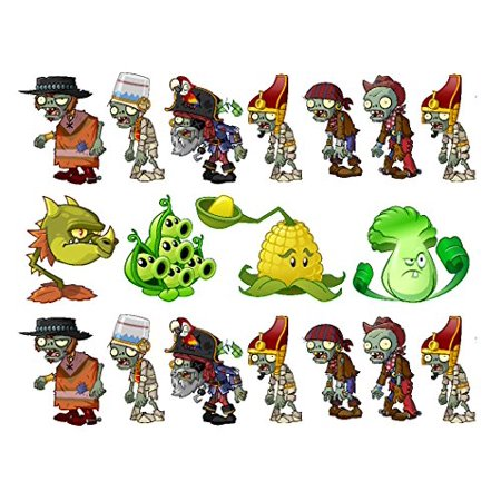 Plants vs. Zombies edible cake strips cake topper decorations Party Supplies! - Halloween Zombie Cake