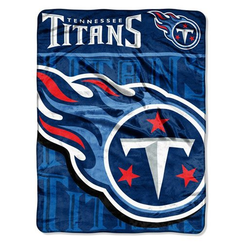 "Tennessee Titans 46"" x 60"" Micro Raschel Throw Blanket - Livin' Large Design"