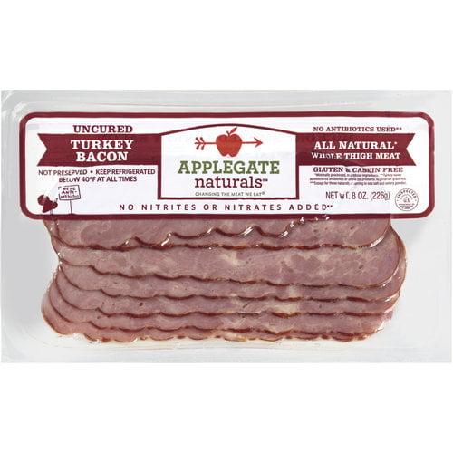 Applegate Farms Naturals Uncured Turkey Bacon, 8 oz