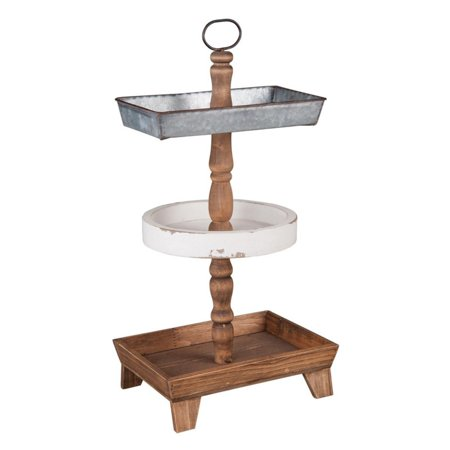 Foreside Home and Garden Three Tier Tray
