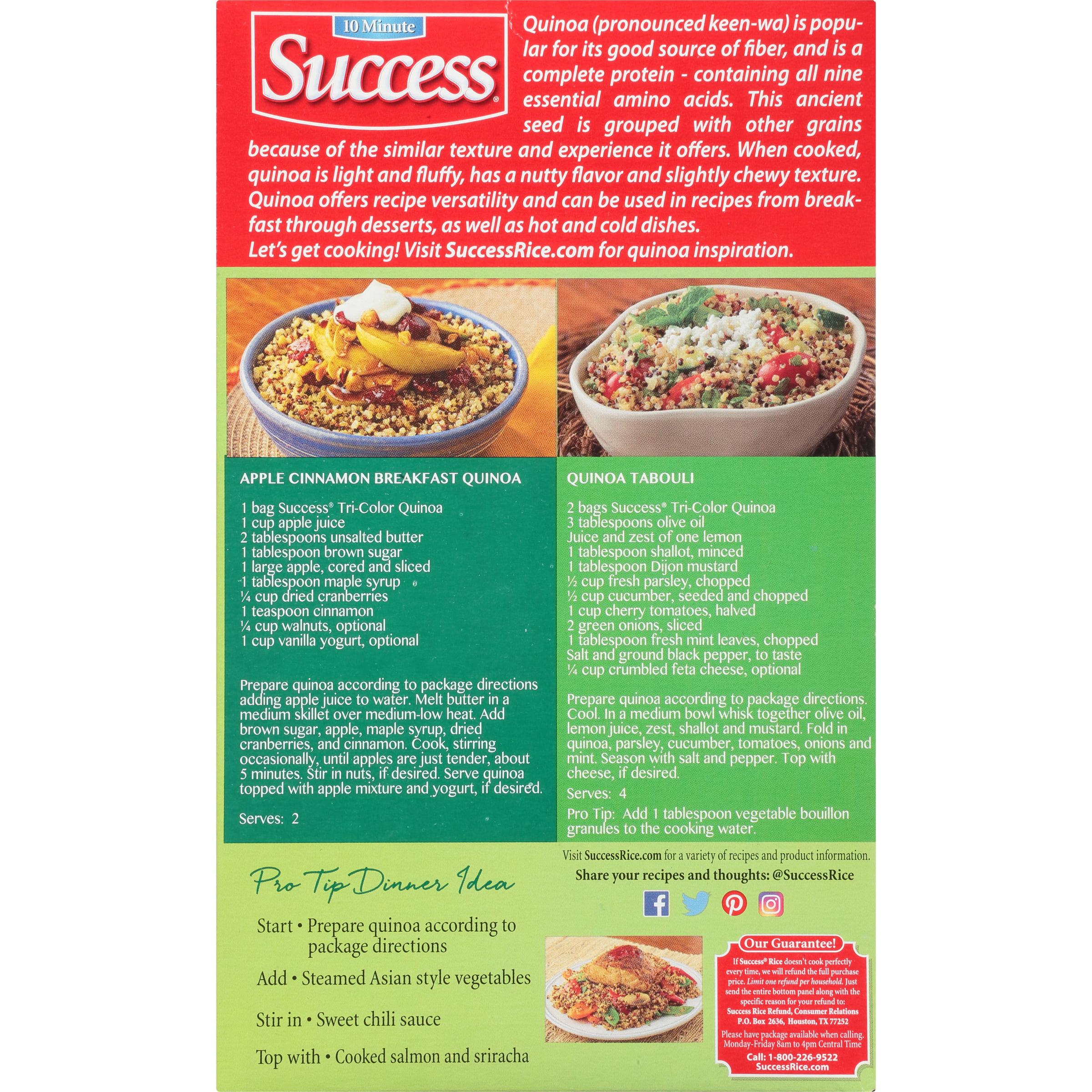 Success Boil-in-Bag Tri-Color Quinoa, 12-Ounce Box - Walmart com