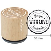 """Woodies Mounted Rubber Stamp 1.35""""-For You With Love Handmade"""