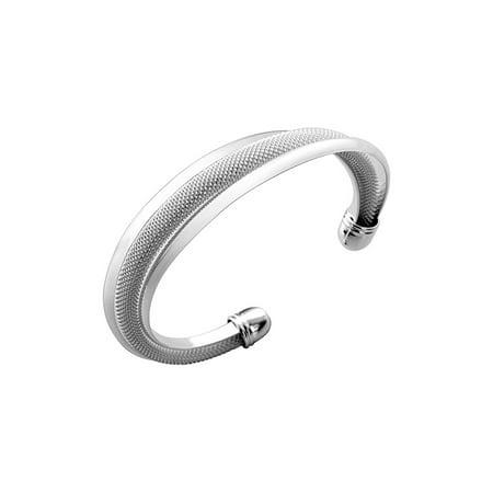 Mandy Sterling Silver Plated Bracelet ,925 Sterling Silver Plated Bangle Cuff - Plated Cuff Bangle
