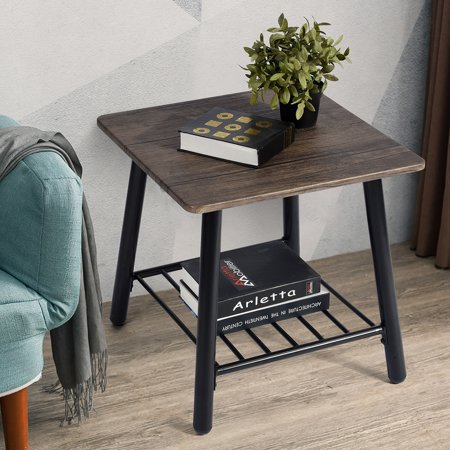 Furniture R Coffee Table Sofa Side End Table Metal Shelf Storage for Living Room Bedroom - image 6 of 7
