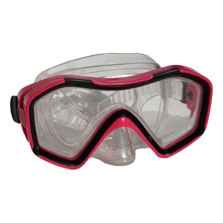 SunSky Adult Swim Goggles Mask Extra Wide View, Pink