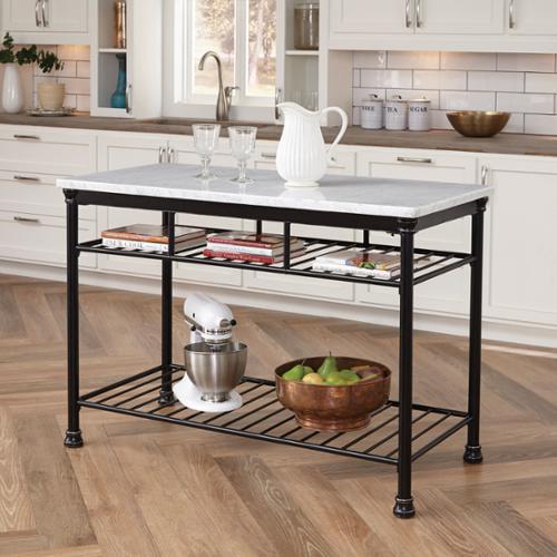home styles baton rouge kitchen island w/ butcher block top