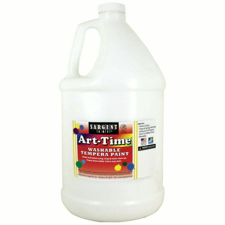 Art-Time® Washable Tempera Paint, White - Gallon