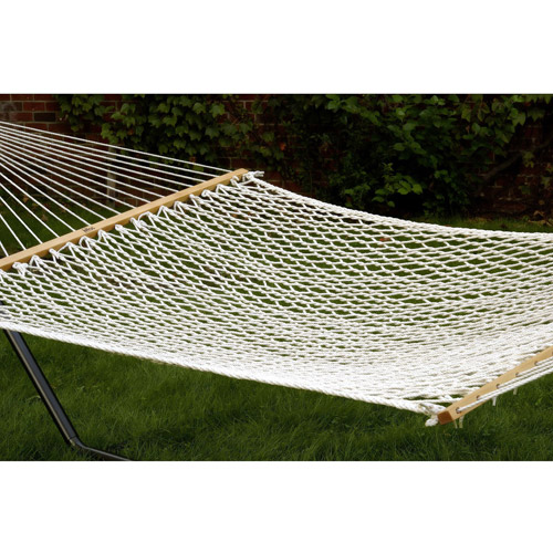 Bliss 2-Person Classic Polyester Rope Hammock, Natural