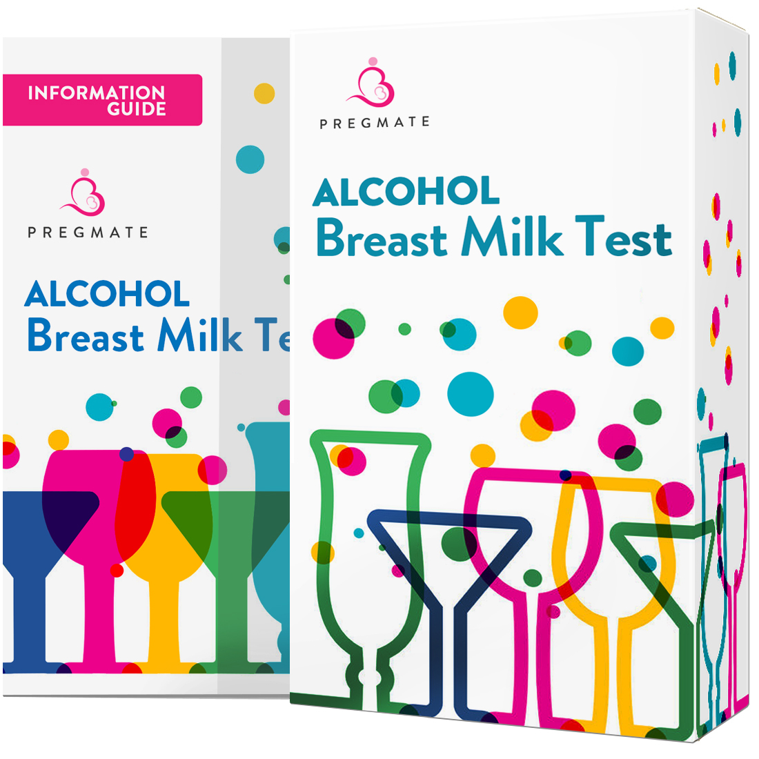 PREGMATE 25 Alcohol Breast Milk Tests One Step Breastmilk Test Strips For Breastfeeding (25)