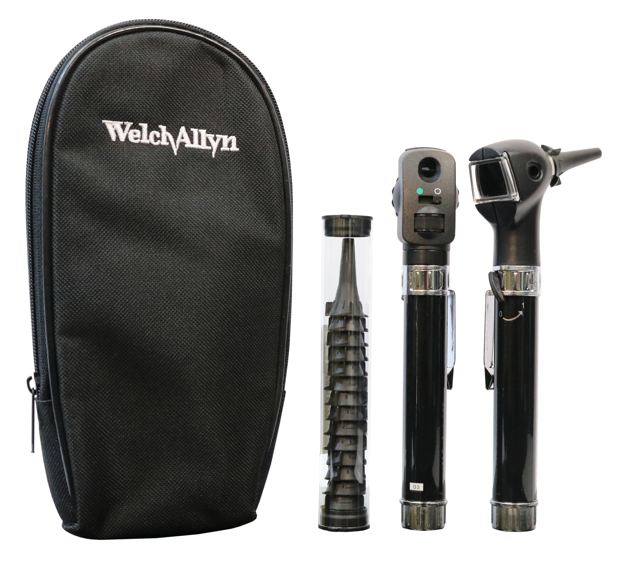 Welch Allyn Diagnostic Set - Pocket Junior - 2 Heads, 2 Handles, 25 Specula and Soft Case