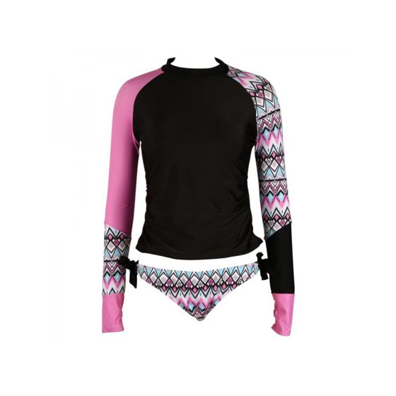 1df14e69be MarinaVida - MarinaVida Women Push up Bikini Set Long Sleeve Surfing  Swimsuit Bathing Suit Swimwear - Walmart.com