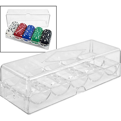 Trademark Poker Clear Acrylic Chip Tray and Cover