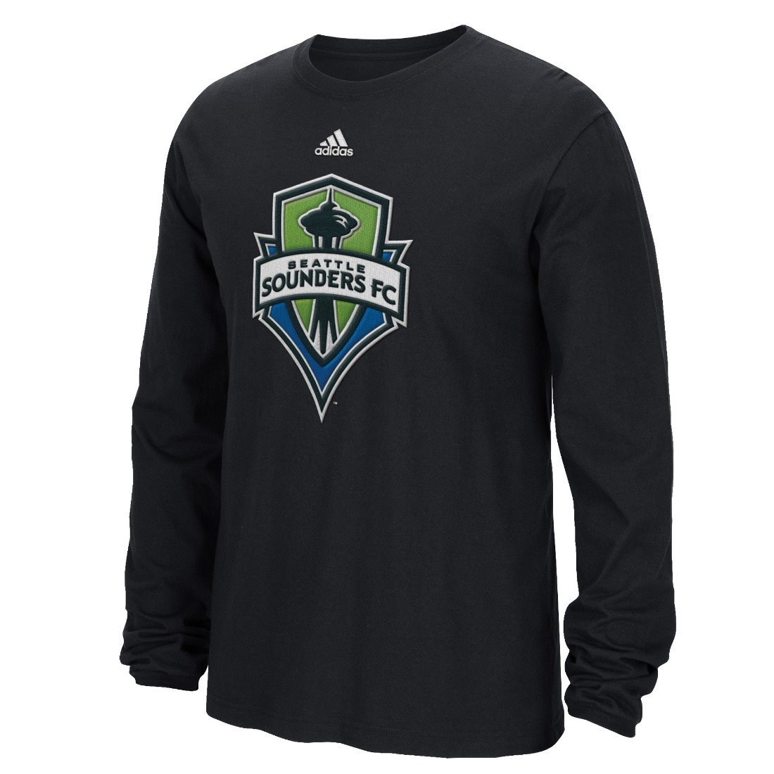 "Seattle Sounders Adidas MLS ""High End Patch"" Men's Long Sleeve T-Shirt"