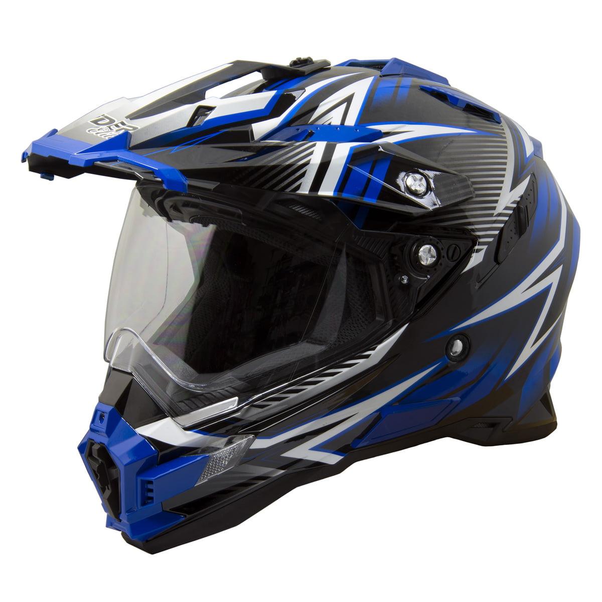 Raider Elite Eclipse Dual Sport Helmet MX ATV Dirt Bike Off Road Motorcycle DOT