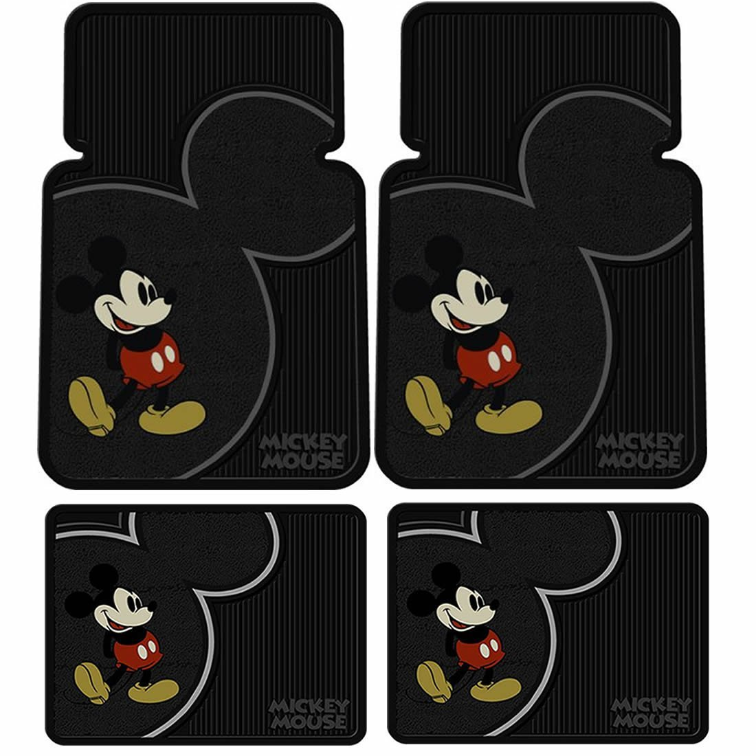 Mickey Mouse Vintage Floor Mat 4 pc Set
